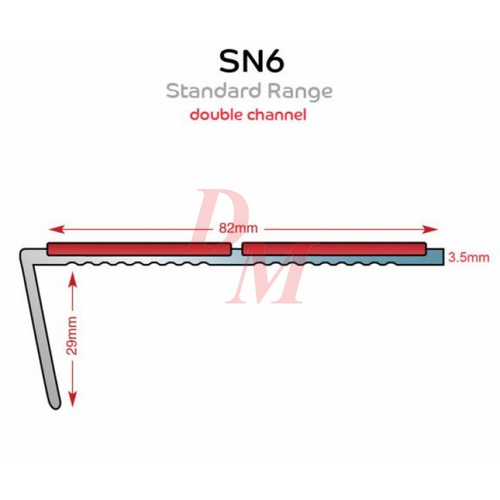 SN6 Double Channel Stairnosing