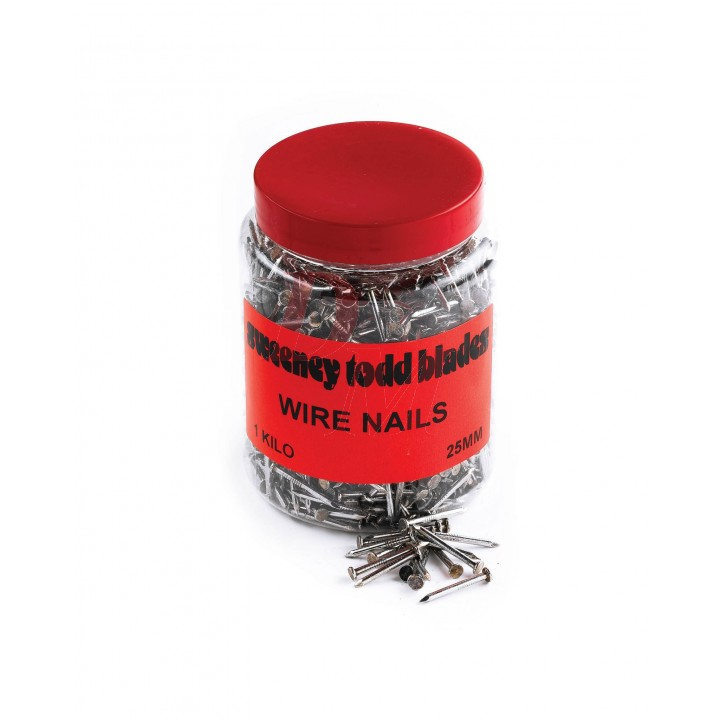 Wire Nails 25mm 1kg Tub