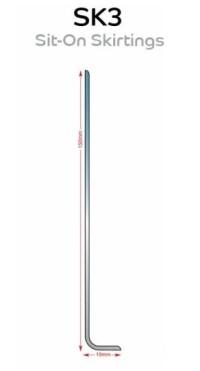 Sit on Flexible PVC Skirting - SK1/SK2/SK3