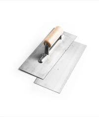 wooden handle trowel